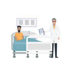 smiling doctor and patient on vector image
