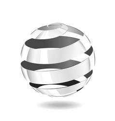 Steel strip ball vector