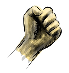 Strong fist sketch vector