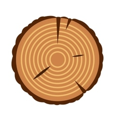 Stump icon flat style vector image