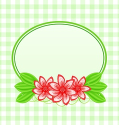 Summer card with flowers and leaves vector image