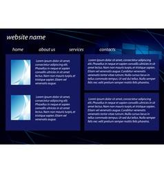 template of dark business website vector image
