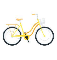 Utility bike flat vector