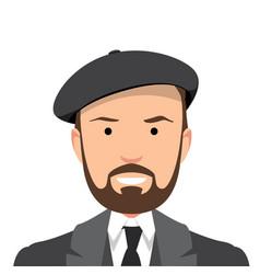Vintage gentleman portrait vector