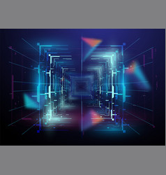 virtual reality space futuristic vr frame head vector image