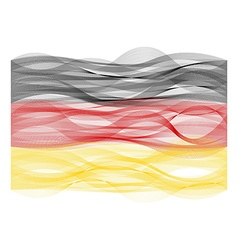 Wave line flag of Germany vector