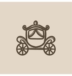 Wedding carriage sketch icon vector image