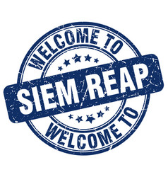 welcome to siem reap vector image