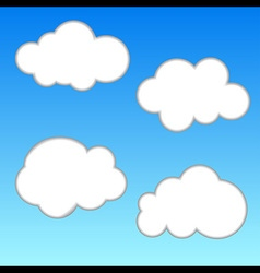 White Cloud on Blue Sky vector image