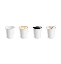 white realistic coffee mug hot cup latte mocha vector image
