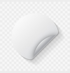 white round paper adhesive sticker mockup vector image