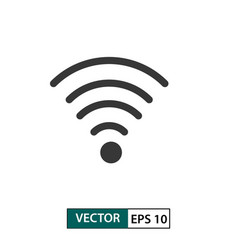 wifi signal icon isolated on white eps 10 vector image