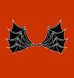 wings of bat and dragon demon wing on red vector image vector image