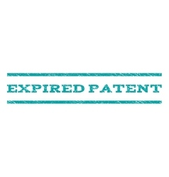Expired Patent Watermark Stamp vector image vector image