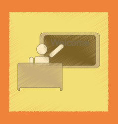 flat shading style icon table board teacher vector image