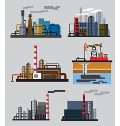 Industrial building factory vector