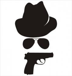 spy accessories vector image vector image