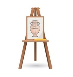 unfinished vase on isolated vector image