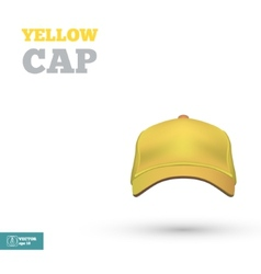 Yellow baseball cap template Front view vector image