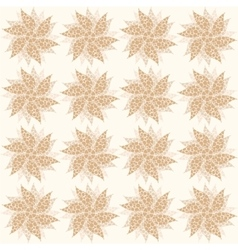 Beige vintage flowers seamless ornament vector image