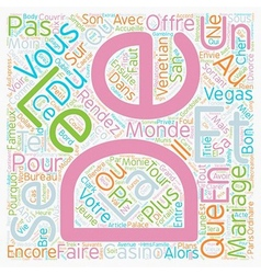 Bons Plans pour Mariage Express text background vector image vector image