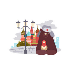 city of moscow vector image