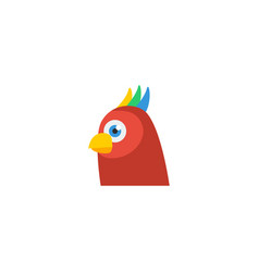 flat icon parrot element of vector image