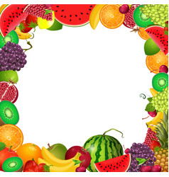 frame template of fruit for you design vector image vector image