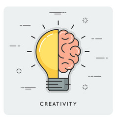 idea and creativity thin line concept vector image vector image