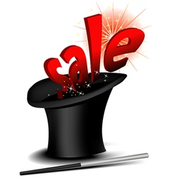 Magic sale hat vector image