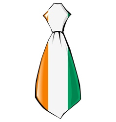 Necktie in national colours of ivory coast vector