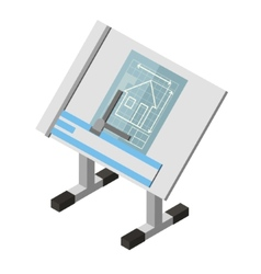 Projecting Engineer Table House Architecture vector image