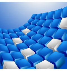 Abstract technology cubes background vector image
