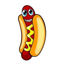 Cartoon hotdog vector image vector image