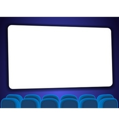 Cinema auditorium with screen vector