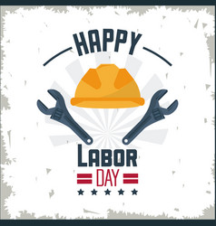 colorful poster of happy labor day with protective vector image vector image