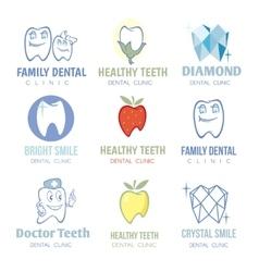 Dental and stomatology logos set vector image vector image