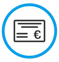 Euro Cheque Rounded Icon vector image