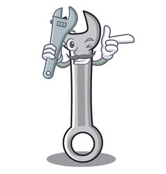 mechanic spanner character cartoon style vector image