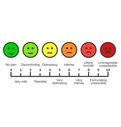 Pain scale chart horizontal vector image vector image
