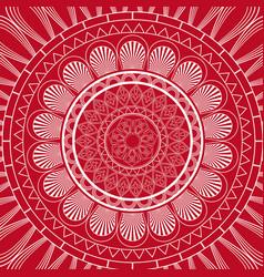 Red mandala ethnic decorative elements indian vector