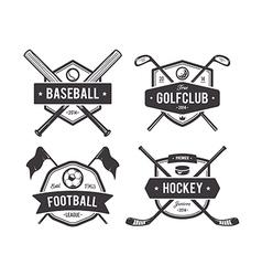 Sport Emblems 1 vector image vector image