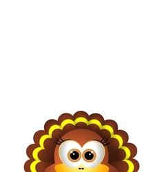 Thanksgiving turkey on white backgroud vector image vector image
