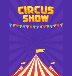 the moucup of circus poster vector image
