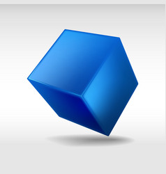 Blue cube vector image vector image