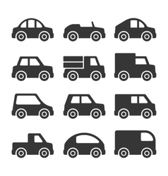 Car Icons Set on White Background vector image vector image