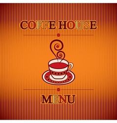 coffe menu vector image vector image