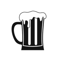 Mug of beer icon simple style vector image vector image