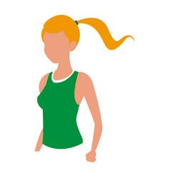 sport blonde girl fitness design vector image
