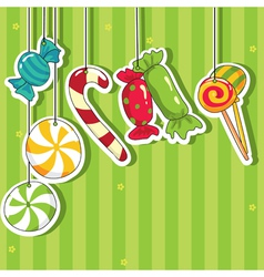 sweets on strings vector image vector image